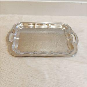 Vintage silver tray.